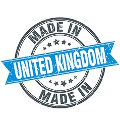 Made in united kingdom blue round vintage stamp vector