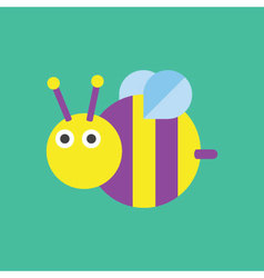 Bee icon  insect vector