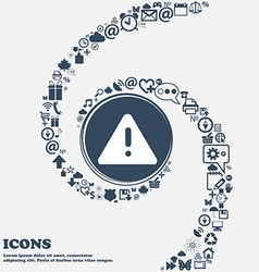 Exclamation mark attention caution icon in the vector