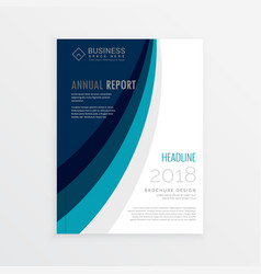 annual report cover template brochure design with vector image vector image