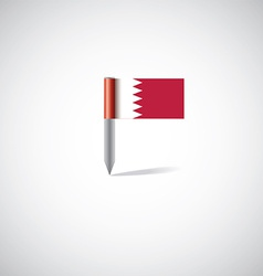 bahrain flag pin vector image