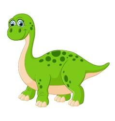 Cartoon adorable dinosaur vector image
