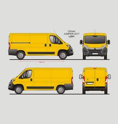 Citroen jumper cargo delivery van 2017 l2h1 vector