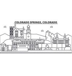 colorado springs architecture line skyline vector image