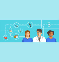 doctor with nurses medical background vector image