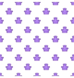 Easy armchair pattern cartoon style vector