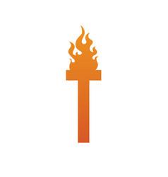 Fire burn initial letter alphabet vector