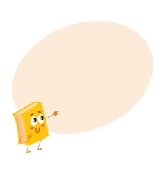 Funny book character pointing to something with vector