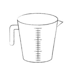 jar with handle and measure scale monochrome vector image vector image