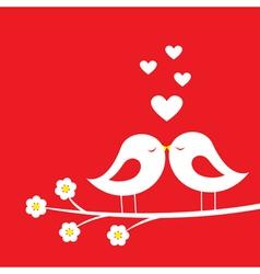 Kiss of birds vector