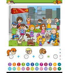 Mathematical activity for kids vector