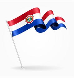 paraguayan pin wavy flag vector image vector image