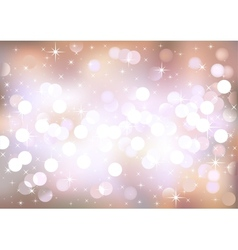 Pastel festive lights background vector image vector image