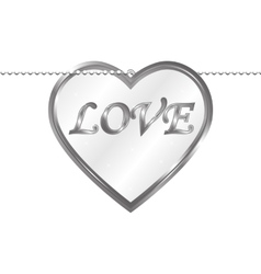 Pendant in the form of heart vector image vector image