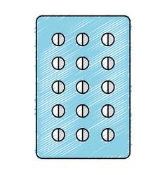 Pills planning medications icon vector