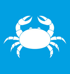 Raw crab icon white vector