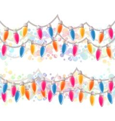 Seamless horizontal Christmas border vector image