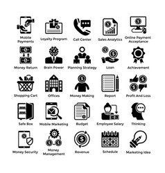 Shopping icons set 8 vector