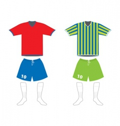 soccer uniform vector image vector image