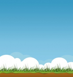 spring sky vector image vector image