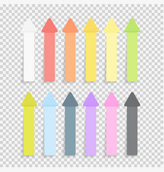 Sticky office paper sheets notes pack collection vector