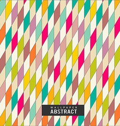 Wallpaper colorful triangles pattern geometric vector image