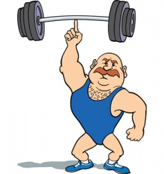weightlifter using finger vector image vector image