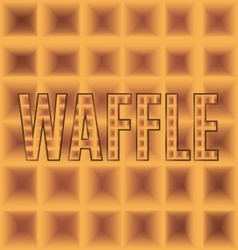 Waffle plaid square logo with text vector
