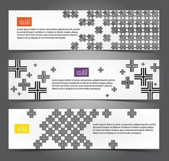 Cross pattern web banners vector