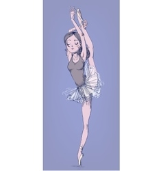 Hand drawn with ballerina girl vector