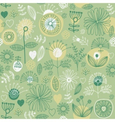 floral background seamless pattern vector image