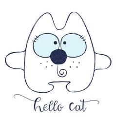 Friendly cartoon cat vector