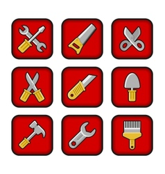 Worker tools icons vector image