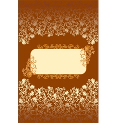 Decorated frame with rounded corners vector image