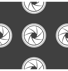 Photo camera diaphragm web icon flat design vector