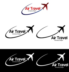 Air travel logo templates vector