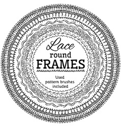 Set of lace round frames vector