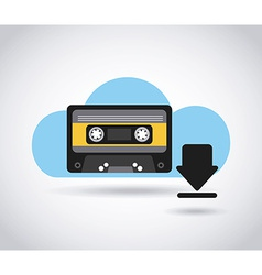 Digital music vector