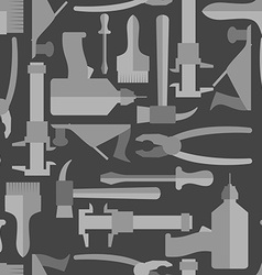 Seamless construction hand tools pattern vector