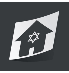 Monochrome jewish house sticker vector