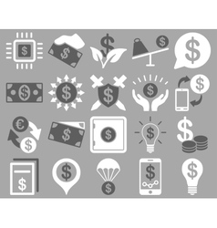 Dollar icons vector