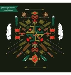 Native american tribal design ornament vector
