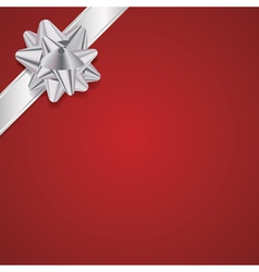 Christmas Present with Ribbon and Bow Background vector image