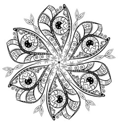 Ornament in the shape of a flower from black and vector