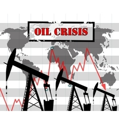 Oil crisis graph vector