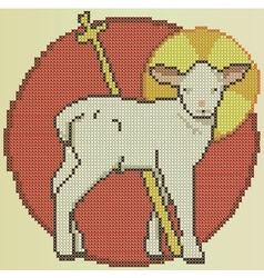 Easter holy sheep vector