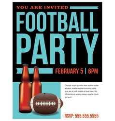 Football Party Flyer Template vector image
