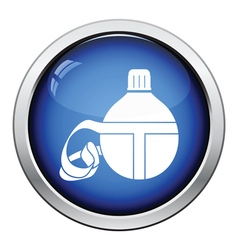 Touristic flask icon vector image