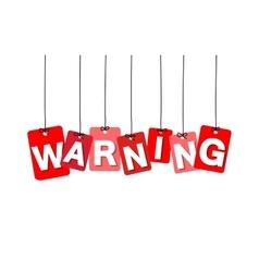 Colorful hanging cardboard tags - warning vector