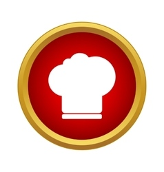 Chef hat icon in simple style vector